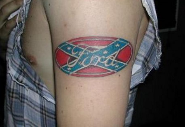 Ford Confederate Flag Tattoo Design