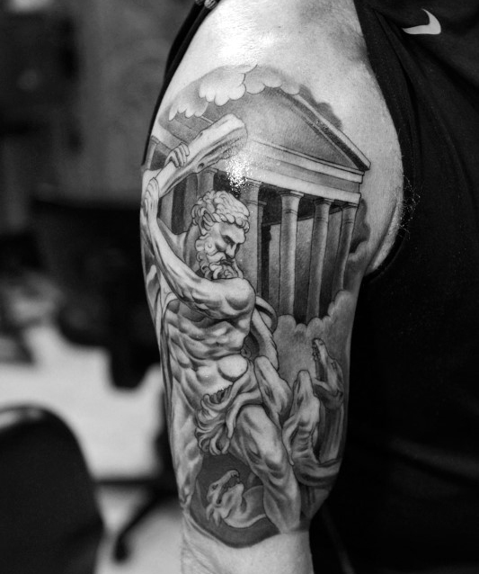 greek mythology tattoos design for men tattoosera. Black Bedroom Furniture Sets. Home Design Ideas
