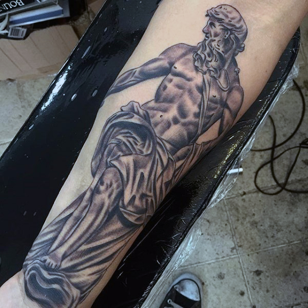 masculine-mens-tattoos-of-greek-gods-on-wrist-and-forearm