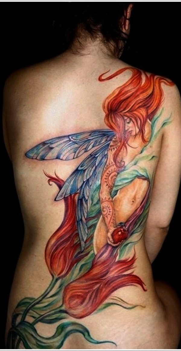 Adorable Fairy Tattoo Designs 23