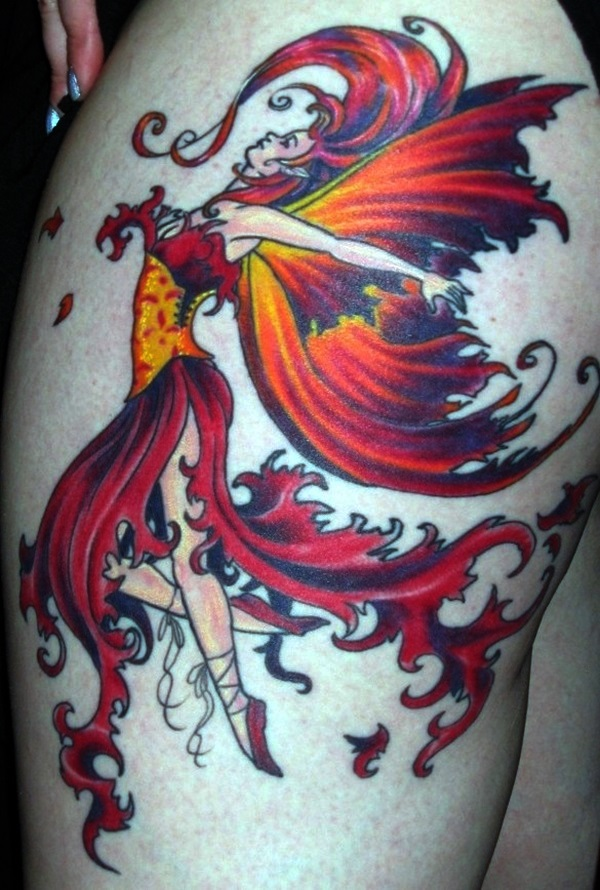 Adorable Fairy Tattoo Designs 24