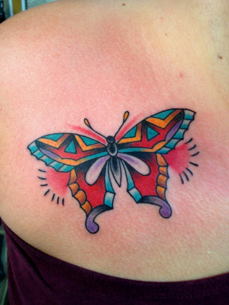 100 colorful tattoo designs for men and women tattoos era for Images of butterfly tattoos