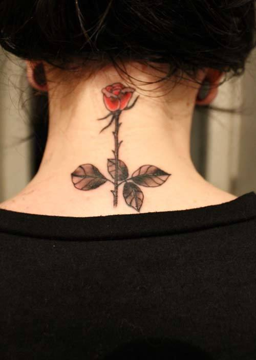 Cool tattoos for girl on the neck