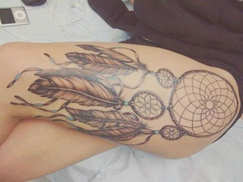 30 insanely hot leg sleeve tattoos tattoos era for Thigh sleeve tattoo