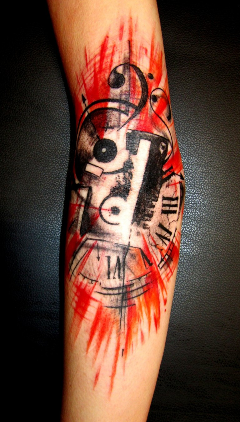 Music Tattoo Designs and Ideas 36