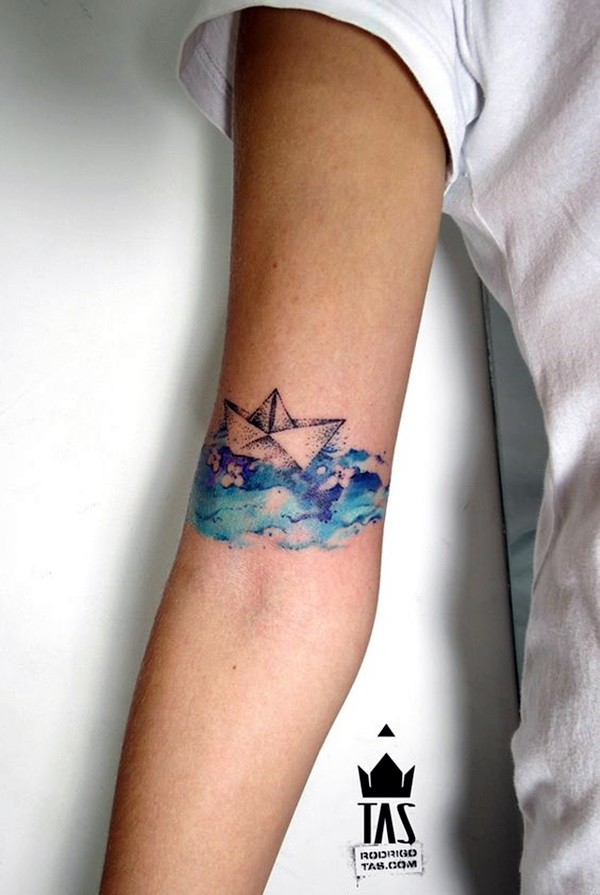 50 best boat tattoo designs tattoos era for Water tattoo designs