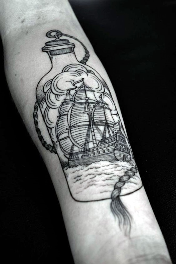50 best boat tattoo designs tattoos era. Black Bedroom Furniture Sets. Home Design Ideas