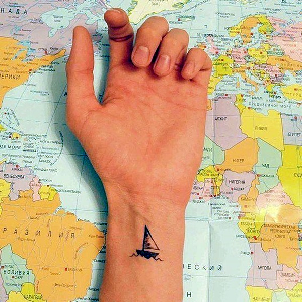 Ship Tattoo Small: 50 Best Boat Tattoos Designs And Ideas