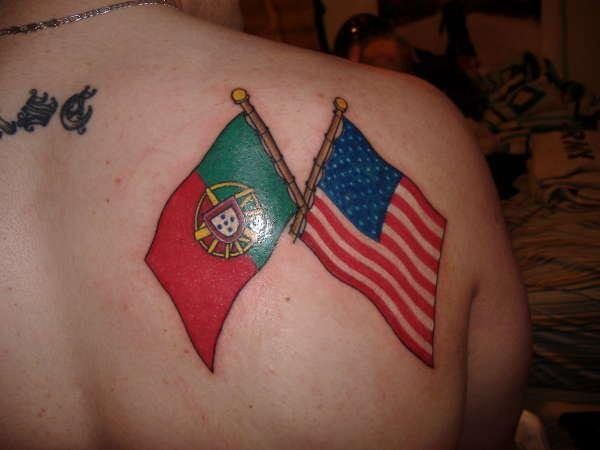 One of the best American Flag tattoo Idea