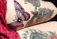 Stimulating Thigh Tattoos