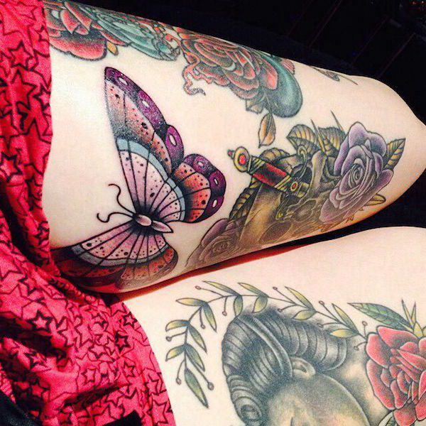 70+ Stimulating Thigh Tattoos For Girls