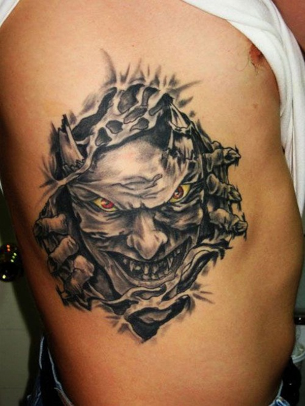 Ripped Skin Tattoo Design and Ideas 13