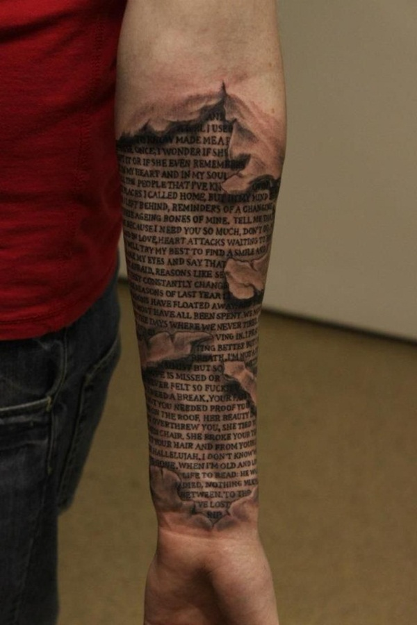 Ripped Skin Tattoo Design and Ideas 18