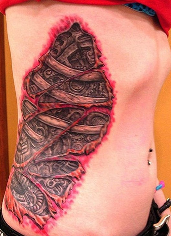 Ripped Skin Tattoo Design and Ideas 23