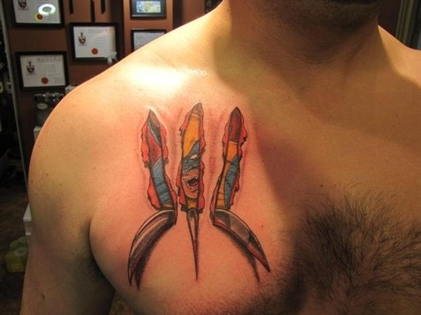 Ripped Skin Tattoo Design and Ideas 32