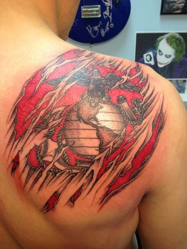 Ripped Skin Tattoo Design and Ideas 5