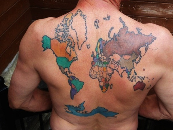 38 Best Smart Map Tattoo Design And Ideas