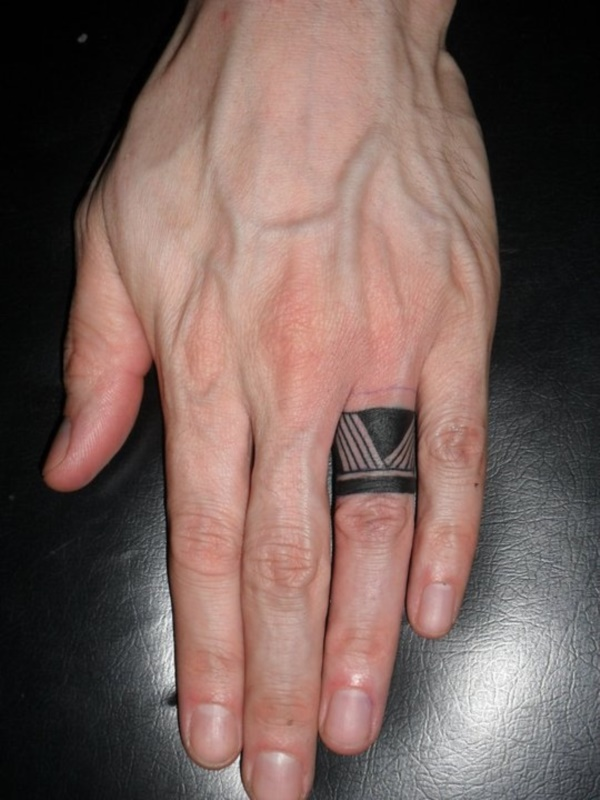 Wedding ring tattoo cover-up