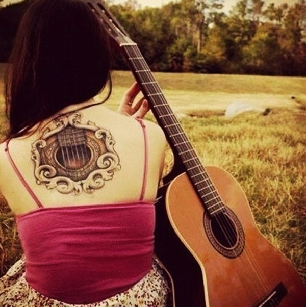 Guitar Tattoo Designs and Ideas 1