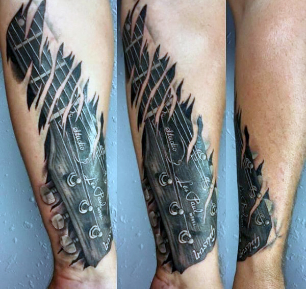 Guitar Tattoo Designs and Ideas 16