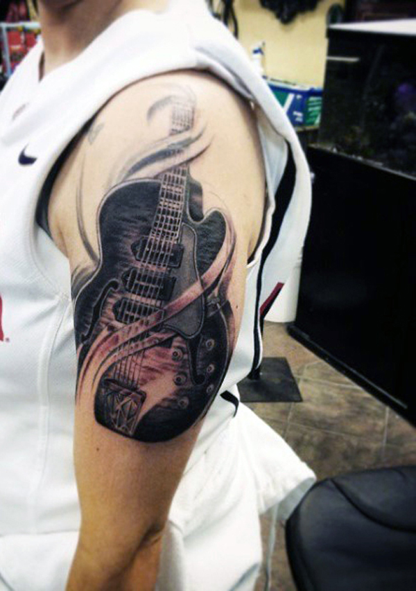 Guitar Tattoo Designs and Ideas 17