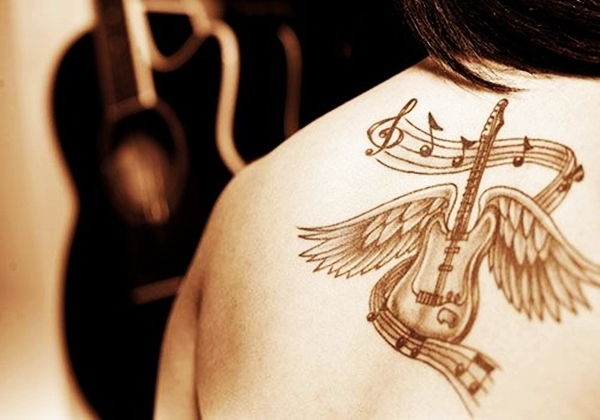 Guitar Tattoo Designs and Ideas 2