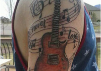 Guitar Tattoo Designs and Ideas
