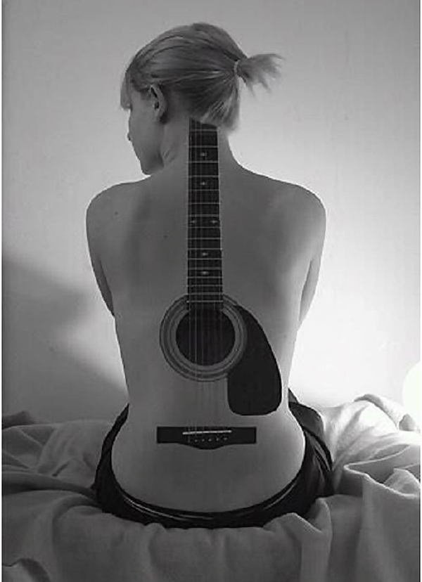 Guitar Tattoo Designs and Ideas 42
