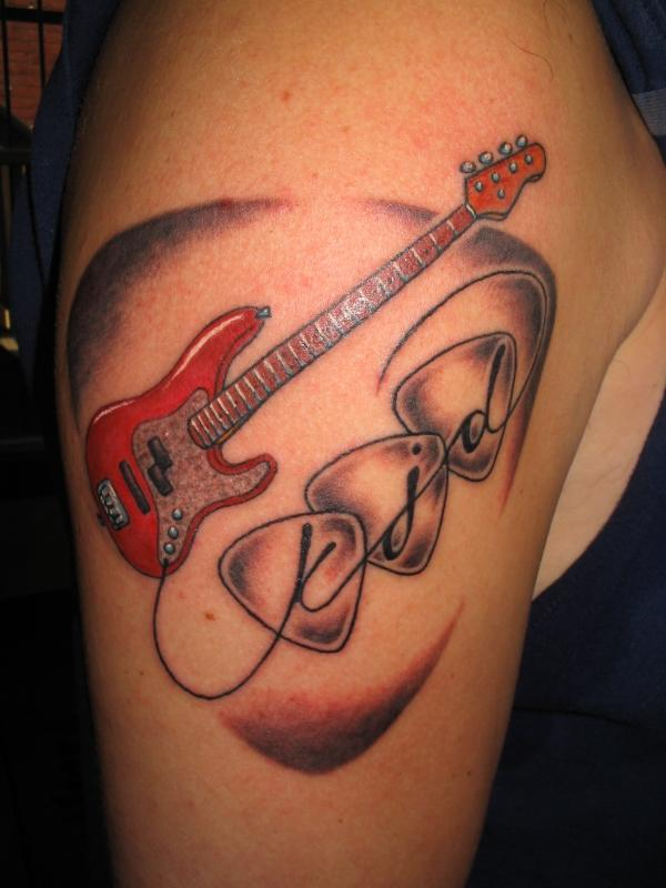 Guitar Tattoo Designs and Ideas 43