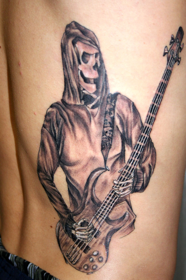 Guitar Tattoo Designs and Ideas 44