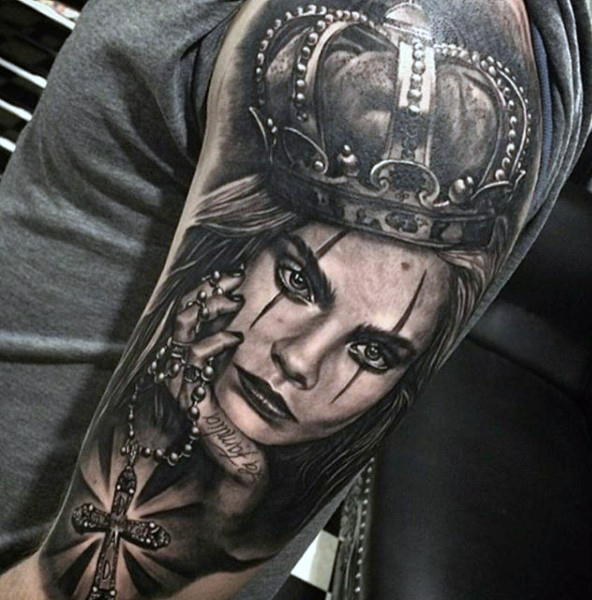 Incredible Sleeve Crown Tattoos for Men