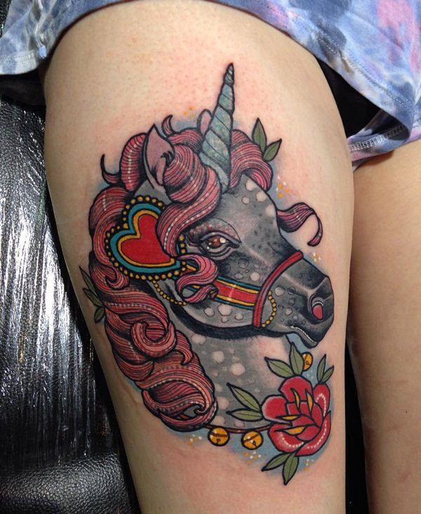 100 best unicorn tattoo designs for men and women tattoos era. Black Bedroom Furniture Sets. Home Design Ideas
