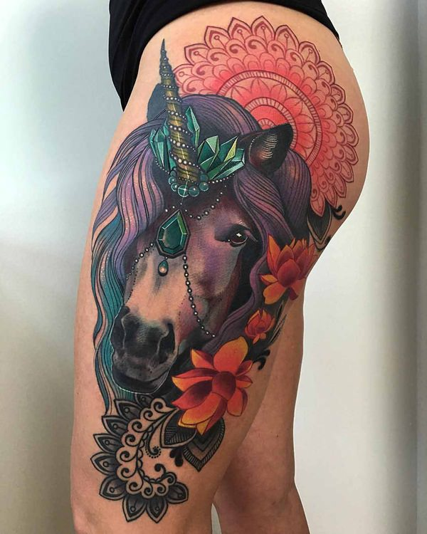 100 best unicorn tattoo designs for men and women for Sexy tattoo designs
