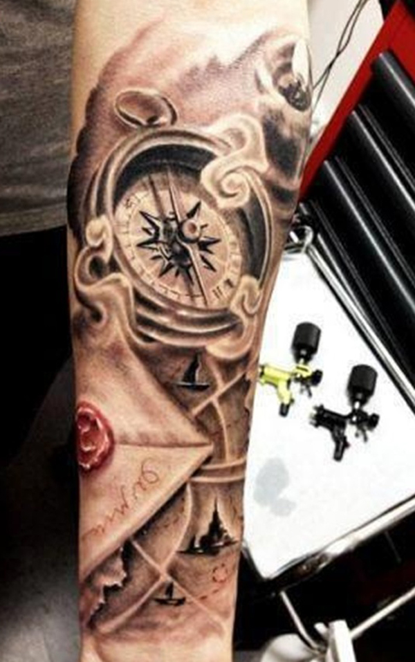 compass tattoo designs 19