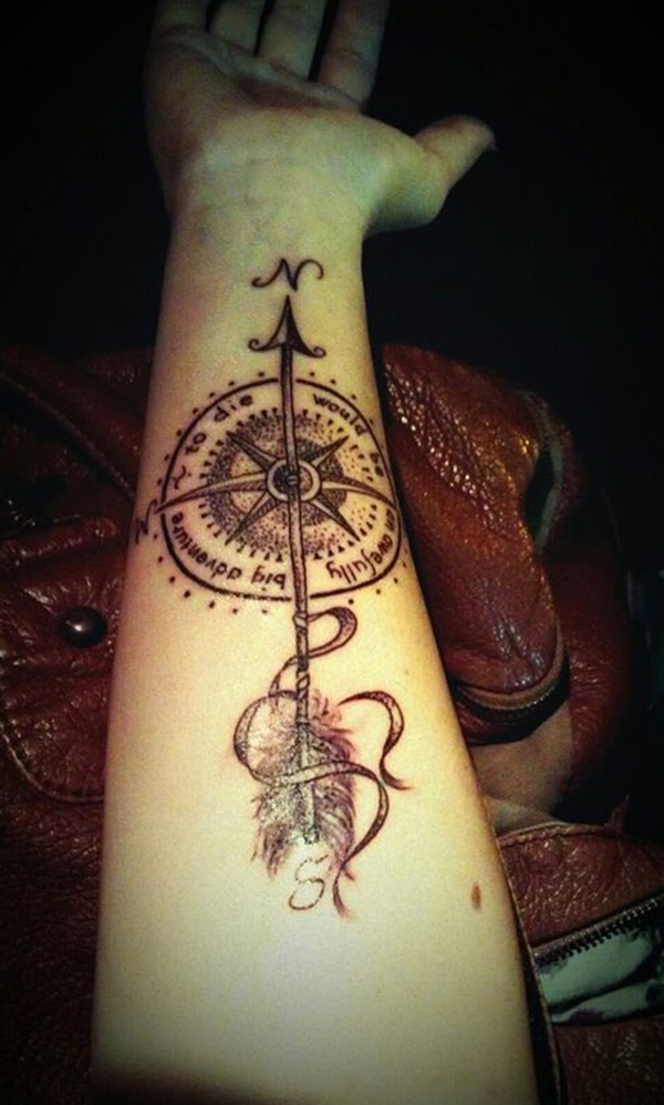 compass tattoo designs 21