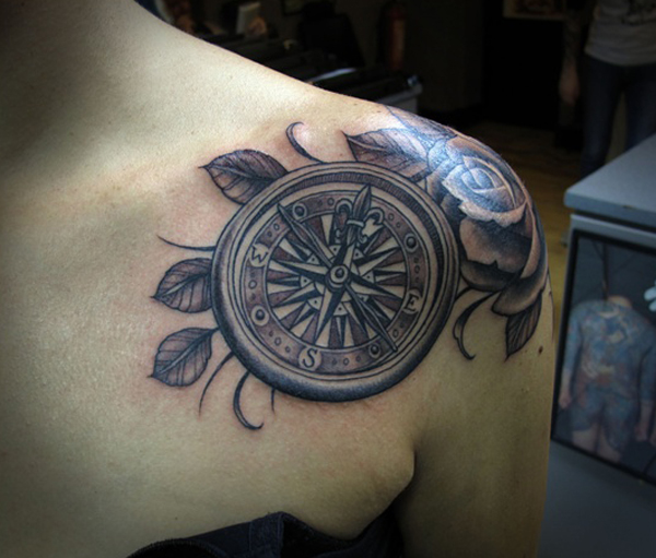 compass tattoo designs 23