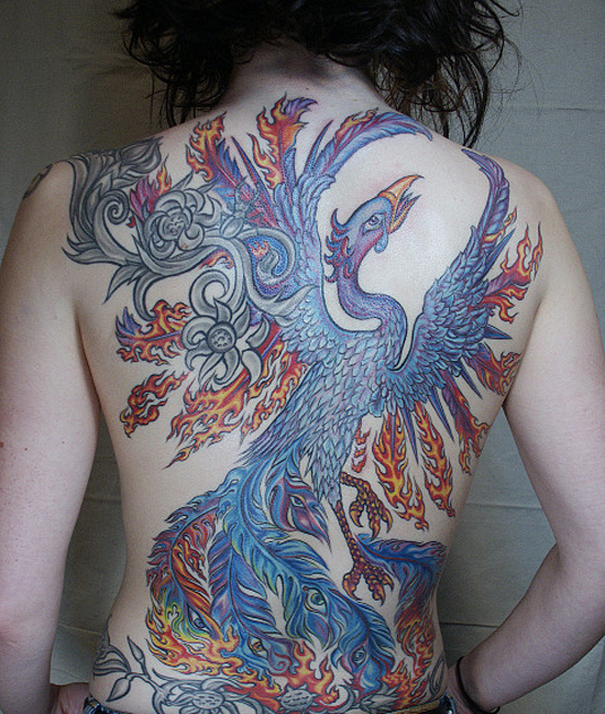 Beautiful Phoenix Tattoo Designs 44