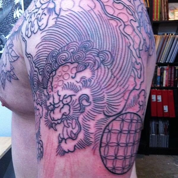 Breathtaking Foo Dog Tattoos for Inspiration 14