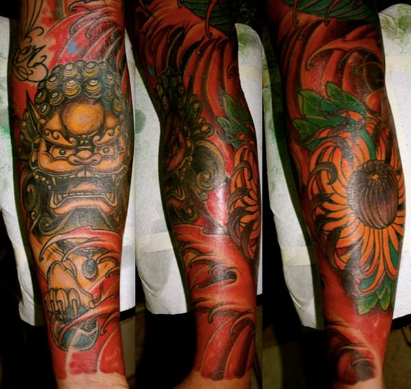 Breathtaking Foo Dog Tattoos for Inspiration 18