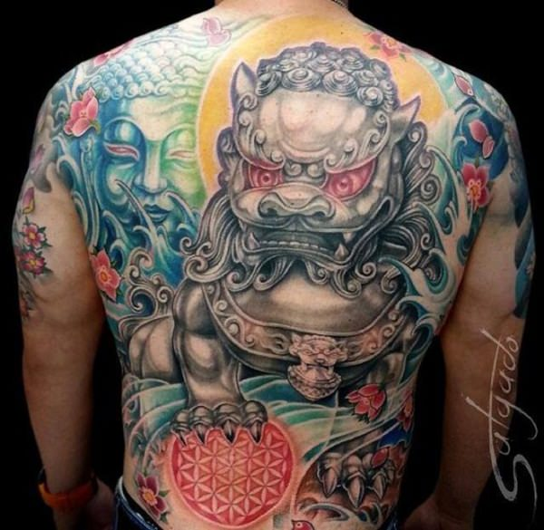 Breathtaking Foo Dog Tattoos for Inspiration 20