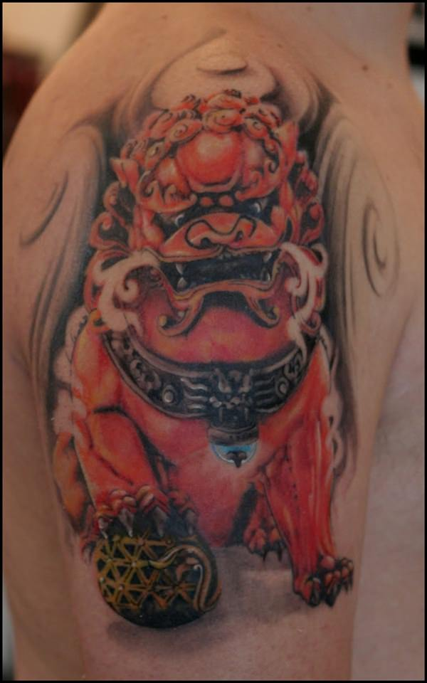 Breathtaking Foo Dog Tattoos for Inspiration 22