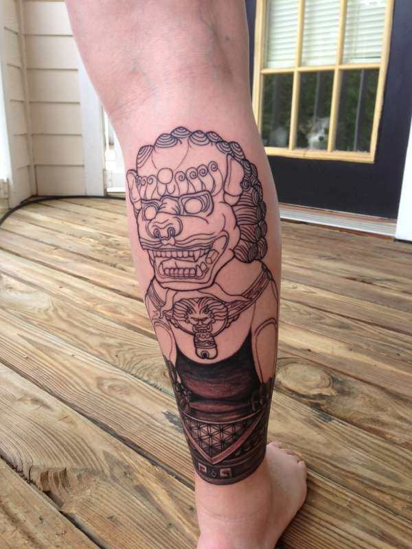 Breathtaking Foo Dog Tattoos for Inspiration 27