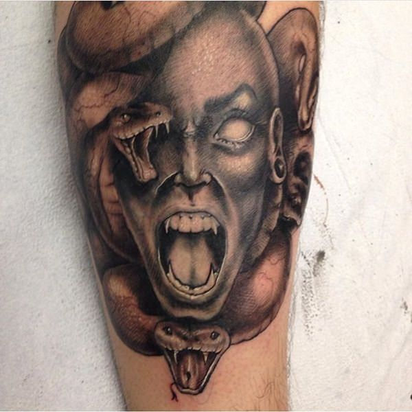 Extraordinary Medusa Tattoo Designs 17