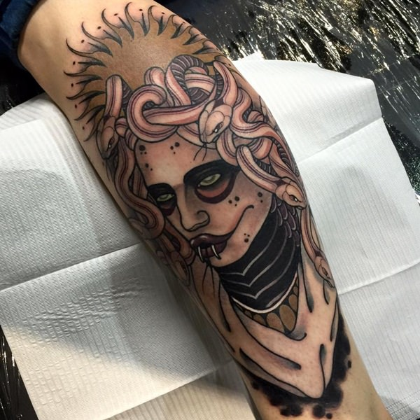 Extraordinary Medusa Tattoo Designs 20