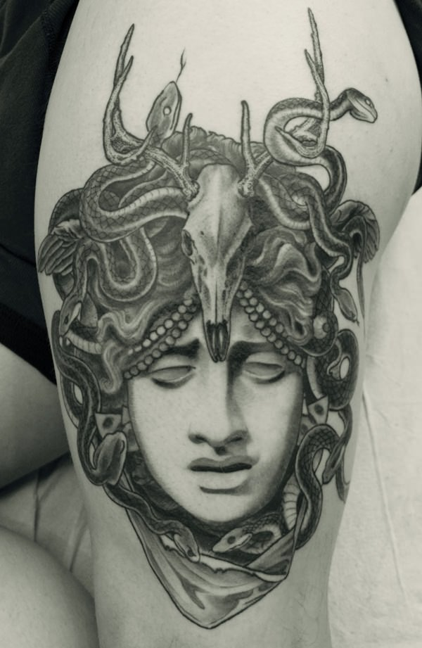 Extraordinary Medusa Tattoo Designs 21