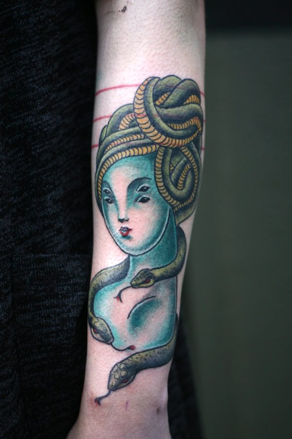 Extraordinary Medusa Tattoo Designs 24