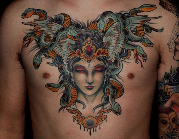 Extraordinary Medusa Tattoo Designs 29