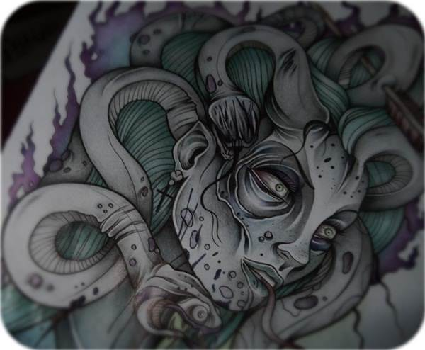 Extraordinary Medusa Tattoo Designs 8