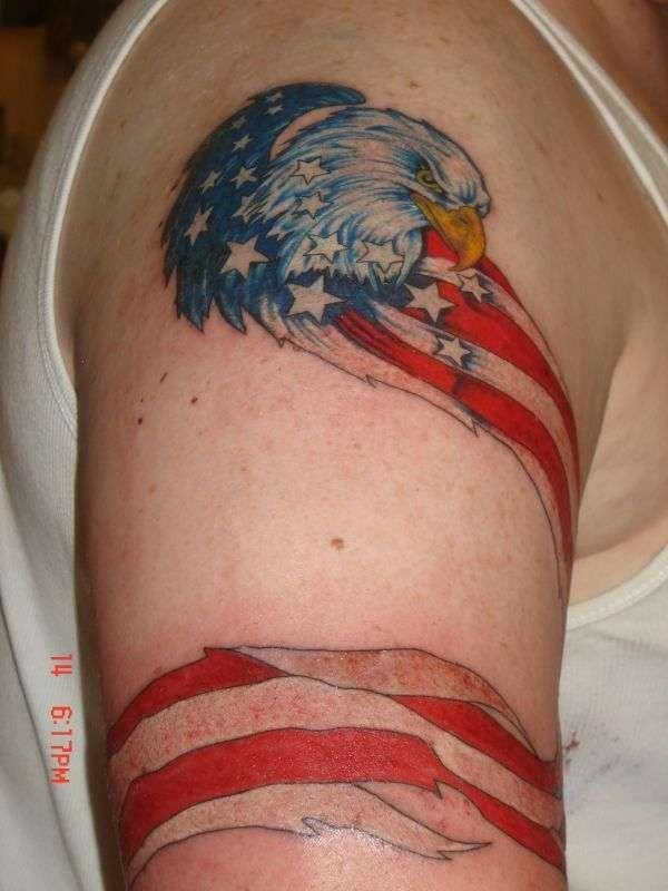60 incredible eagle tattoos design and ideas for Meat tag tattoo