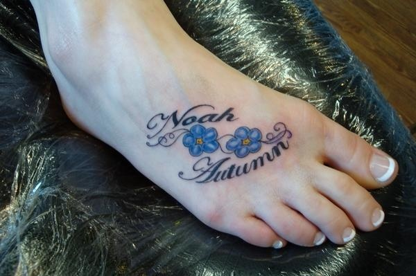 Adorable Ideas Of Tattoos With Kid's Names